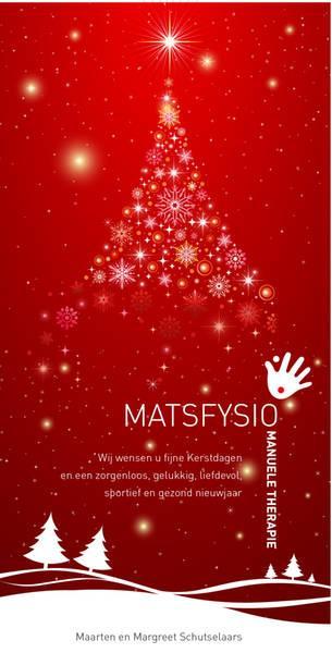 Openingstijden Matsfysio rondom de Feestdagen